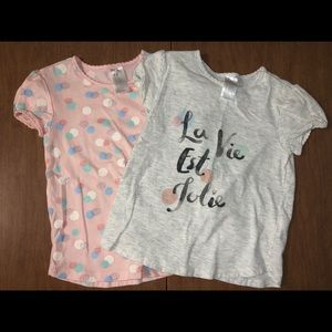 H&M Size 18-24M Set of 2 Tee Shirts EUC